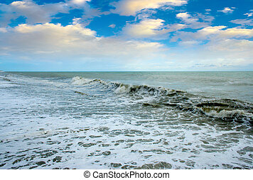 stormy waves of the sea