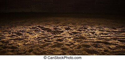 Sandy Rodeo Arena Panoramic Background. Horse Riding and ...
