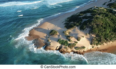 Sandy Seacoast with Waves - Sandy seacoast in Tofo ...
