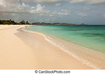 Sandy Tropical Caribbean Beach
