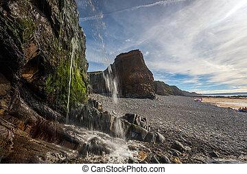 sandymouth, anglia, cornwall, uk