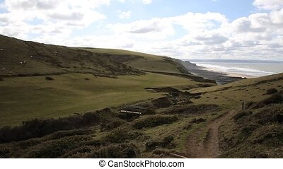 Sandymouth coast North Cornwall pan - Sandymouth coast North...