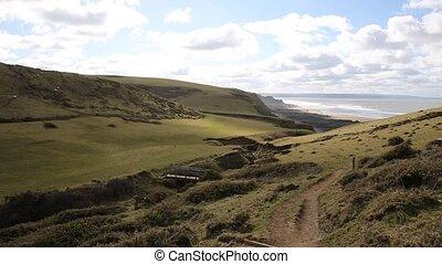 Sandymouth coast North Cornwall uk