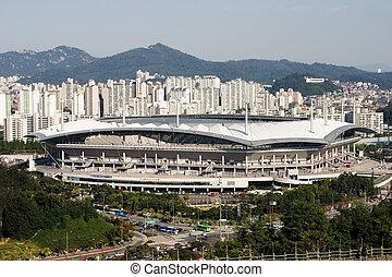 """Stadium in South Korea - """"Sangam"""" Stadium in South Korea"""