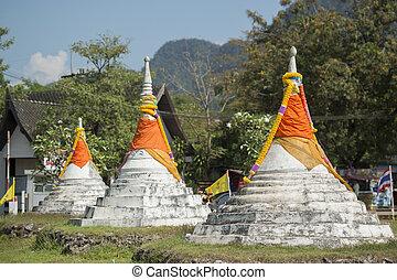 sangkhlaburi, három, pagoda, hágó, thaiföld, kanchanaburi