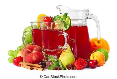 sangría, frutas