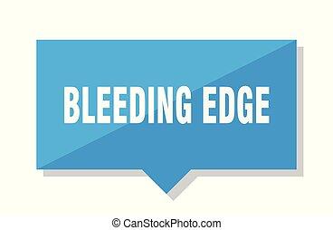 sangramento, borda, aprece etiqueta