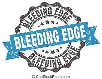 sangramento, borda, stamp., sinal., selo