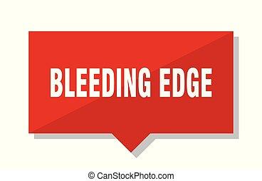 sangramento, borda, tag vermelho