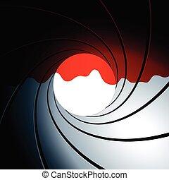 sangre, estilo, james, bono, barril de arma de fuego, ...