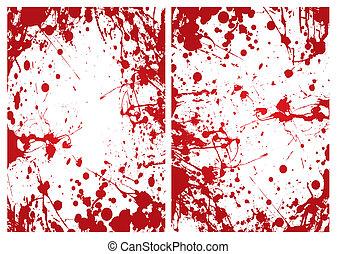 sangre, splat, marco