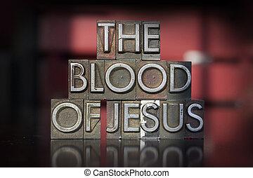 sangre, texto impreso, jesús