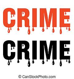 sangriento, crimen, palabra