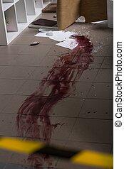 sangue, chão