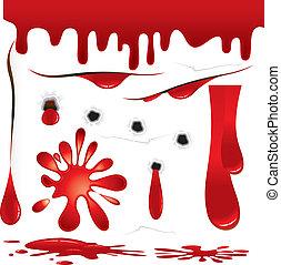 sangue, decorações