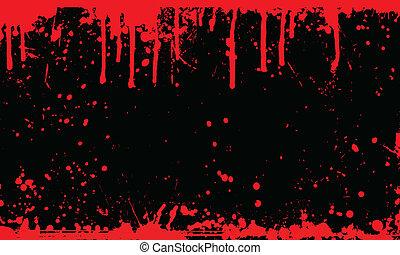 sangue, fondo, splat