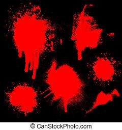 sangue, splatters