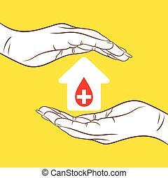 sanguine, concept, donation
