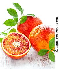 sanguine, oranges