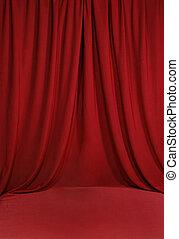 sanguine, rouges, drapé, toile de fond, fond