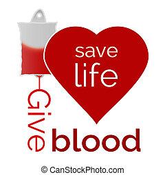 sanguine, sauver, vie, donner