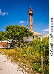 Sanibel Island Lighthouse, in Sanibel, Florida.
