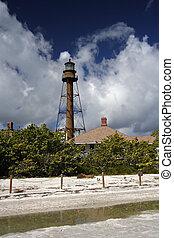 Historic Lighthouse on Sanibel Island, South Florida