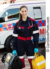 sanitäter, weibliche , portrable, besitz, vorrichtungen & hilfsmittel