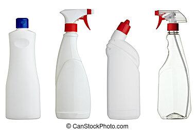 sanitario, blanco, producto, botella