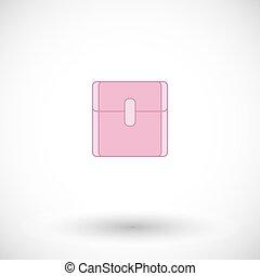Sanitary napkin vector flat icon