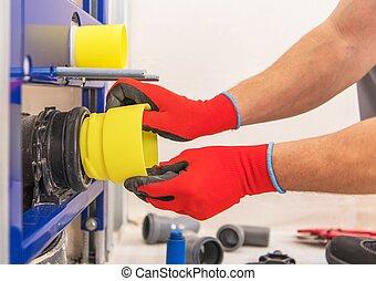 Sanitary Plumbing Installing