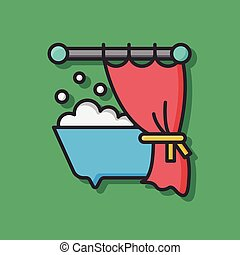sanitary vector bathtub icon