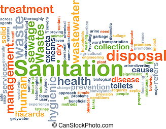 Sanitation background concept - Background concept wordcloud...
