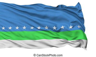 Sanjose City Isolated Waving Flag