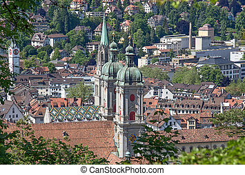 Sankt Gallen, Switzerland - Roman Catholic Abbey in Sankt...