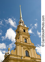 Sankt Petersburg - St. Peter and Pavel's cathedral in the...