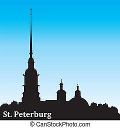 Sankt Petersburg silhouette