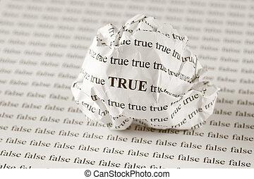 sann, falsk, eller