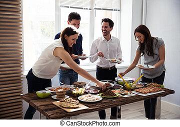 sano, amici, cibo mangia