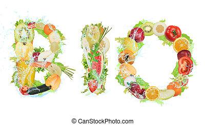 sano, bio, cibo, per, wellness