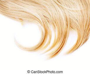 sano, capelli, bianco, isolato, biondo