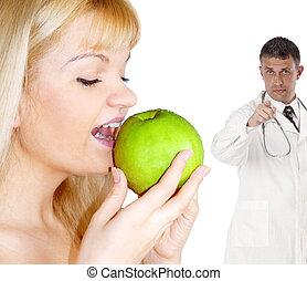 sano, cibo, concetto