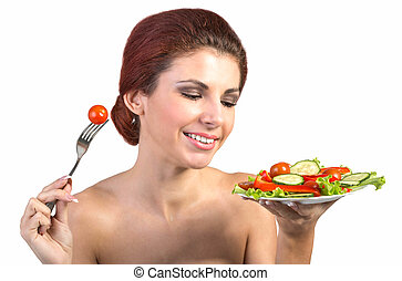 sano, cibo, Vegetariano