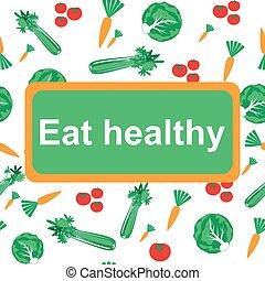 sano, comer, plano de fondo