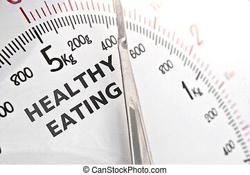 sano, concepto, comida
