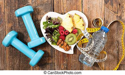 sano, concetto, mangiare