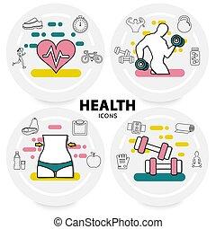 sano, concetto, stile di vita