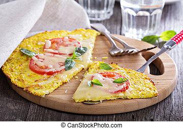 sano, crosta, cavolfiore, pizza