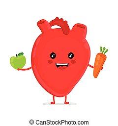 sano, divertente, forte, felice, cuore