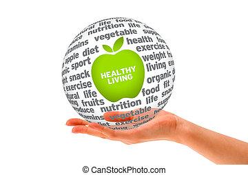 sano, esfera, estilo de vida